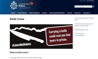 Lives Not Knives campaign, Leicestershire Police