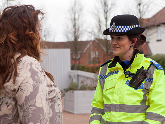 PCSO talking to a member of the public