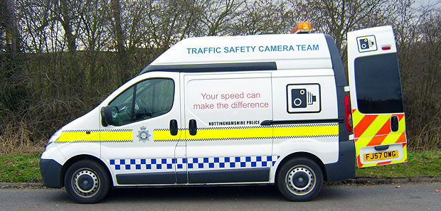Mobile speed camera location