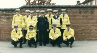 Officers, staff and four-legged friends - Ollerton roads policing team